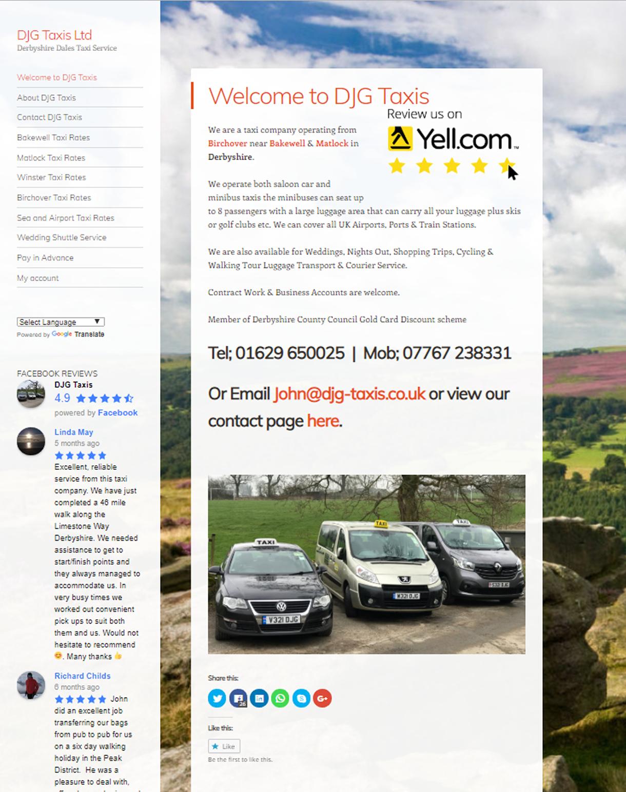 taxi Website Derbyshire